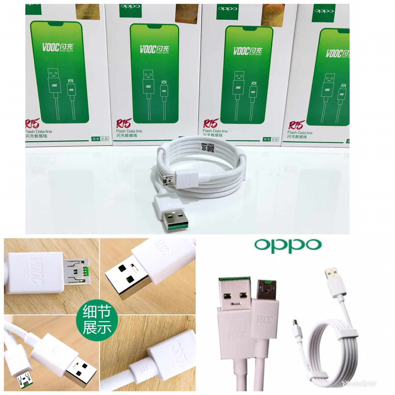 Kabel Data Oppo Ori R15 Fast Charging