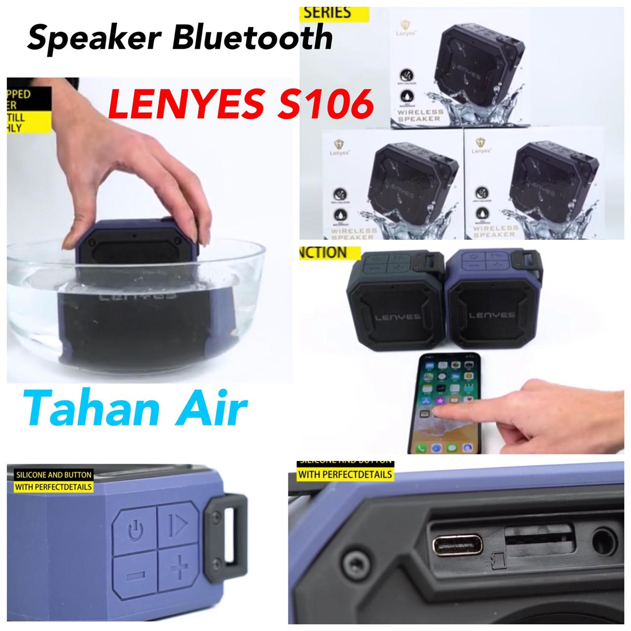 Speaker Bluetooth Tahan Air LENYES S106 Original