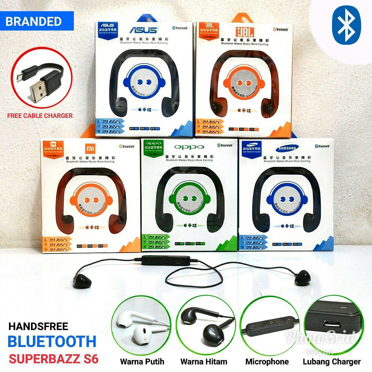 Handsfree Bluetooth Superbass S6 Murah