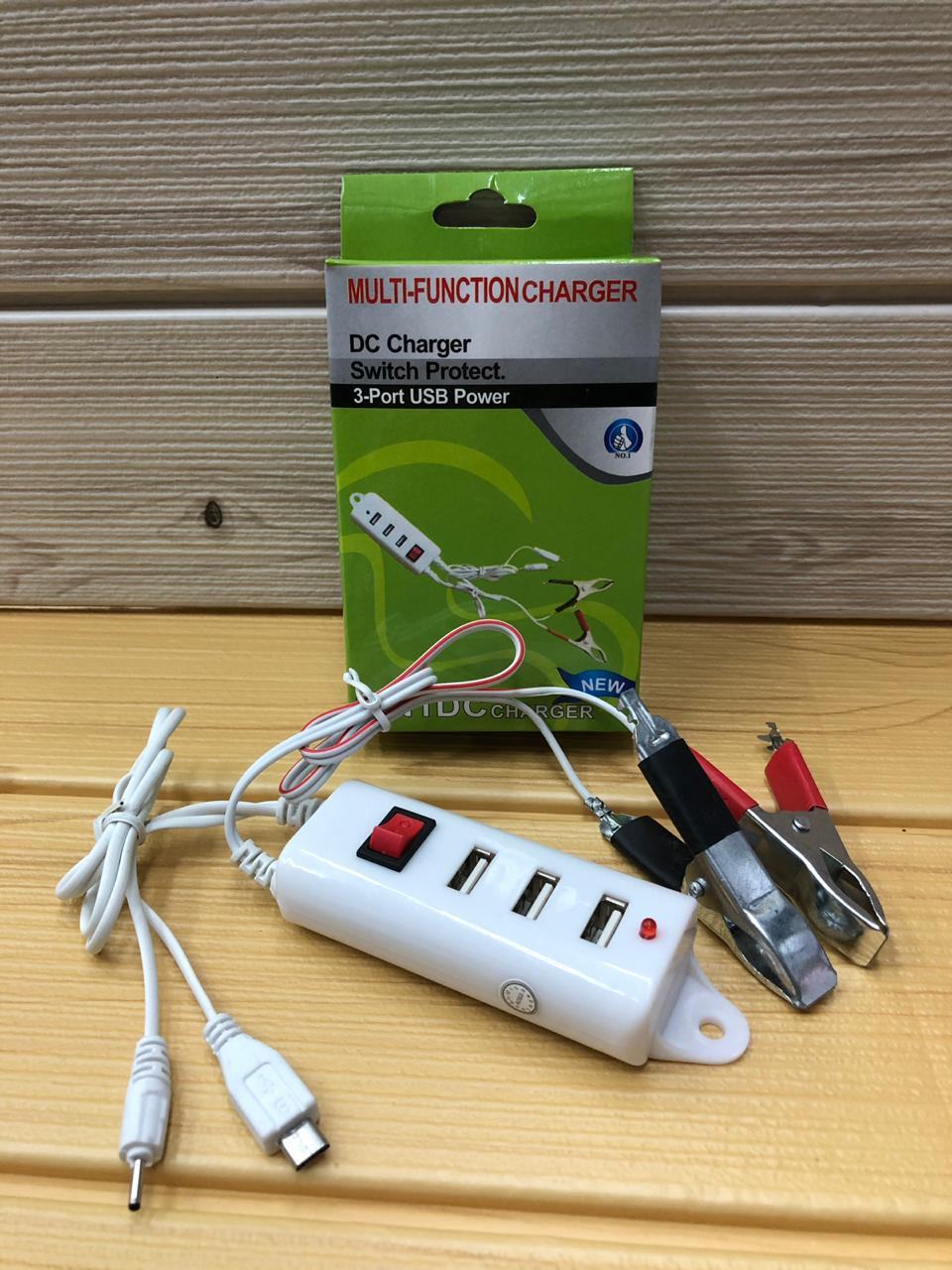 Charger Aki Motor 3 USB 2 in 1 Murah
