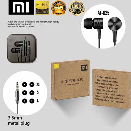 Handsfree Xiaomi Piston 2 Ori 100% AT-025