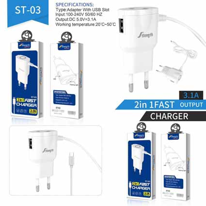 Charger Strength ST-03 + USB 3.1A