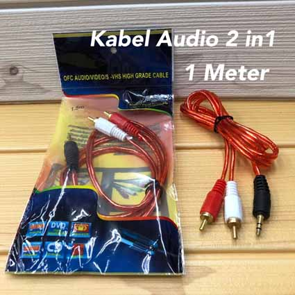 Kabel Audio 2 in 1 (1 Meter)