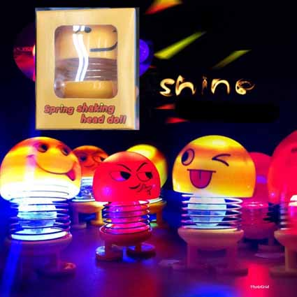 Boneka Emoji LED + Packing