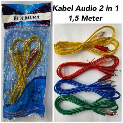 Kabel Audio 2 in 1 Kabel 1,5 Meter