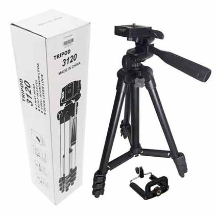Tripod 3120 Black 1 Meter + Holder