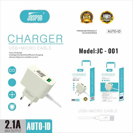Charger Jaspan JC-001 + USB (Packing Baru)