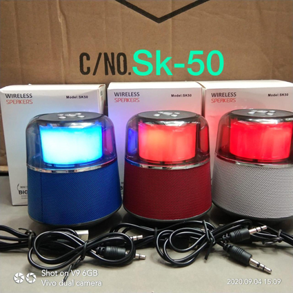 Speaker Bluetooth SK-50 Lampu led