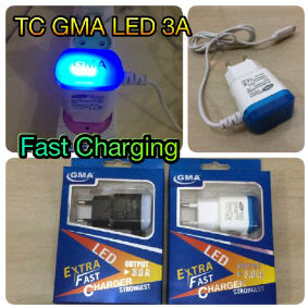 Charger GMA LED 3A Fast Charging