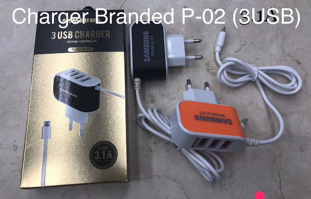 Charger Branded P-02 (3 USB)