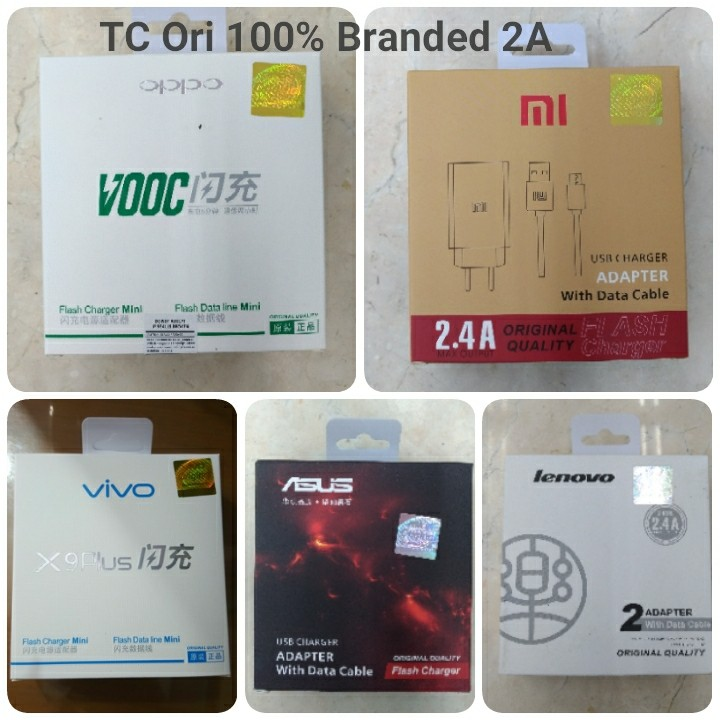 Charger Branded Ori 100%  2A (5 Merek)