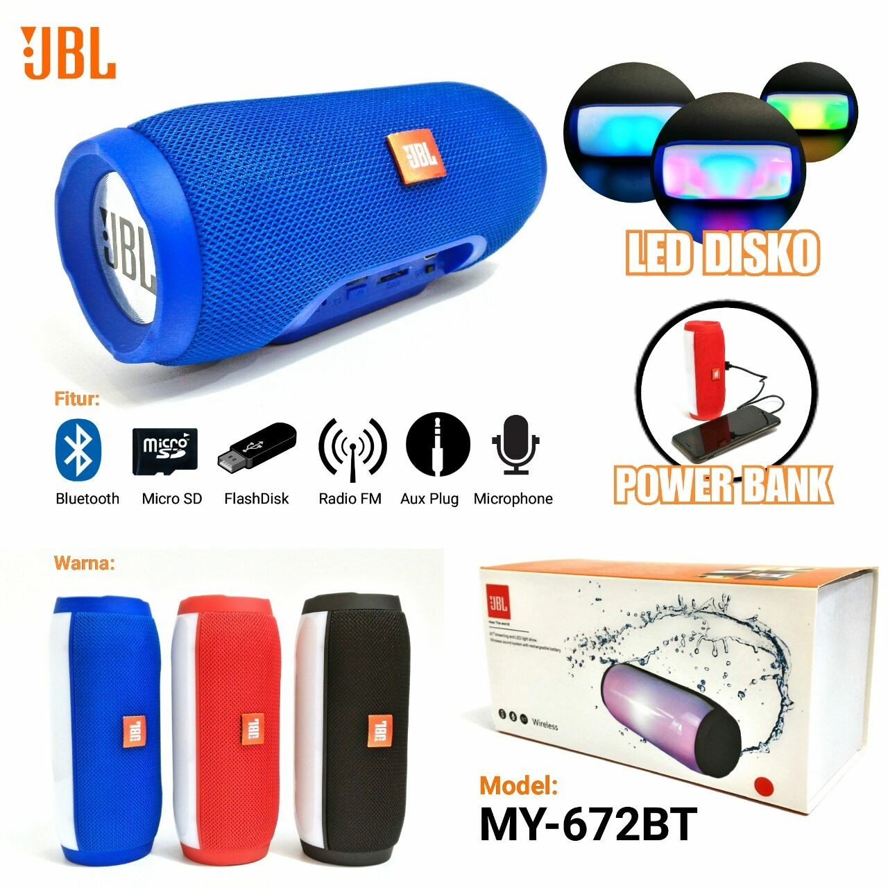 Speaker JBL Bluetooth MY672