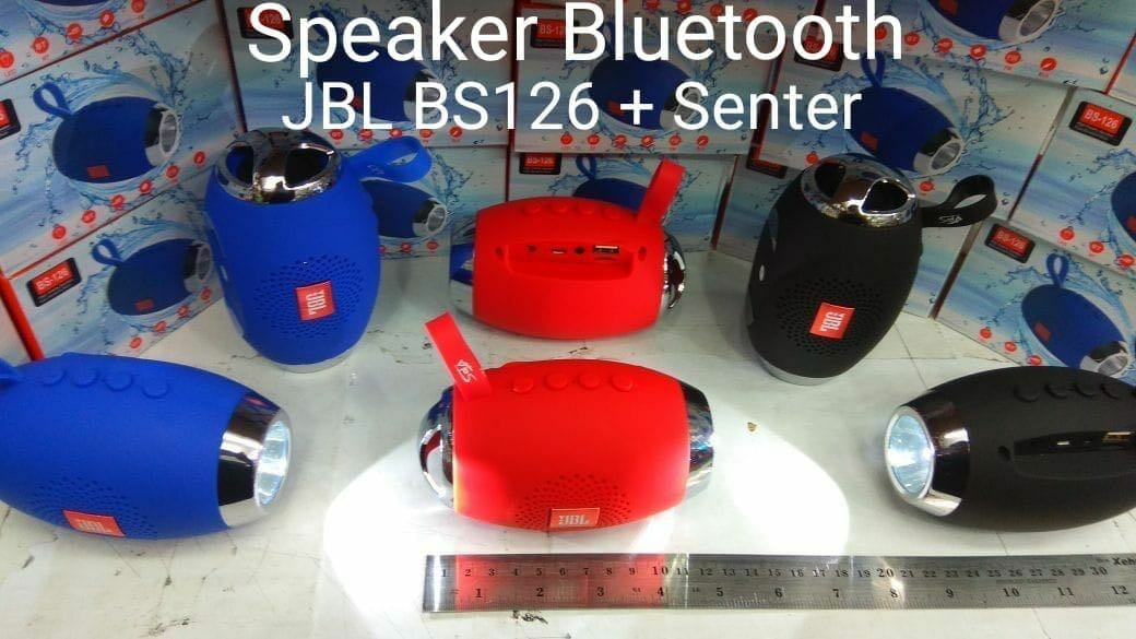 Speaker JBL Bluetooth BS126 + Senter