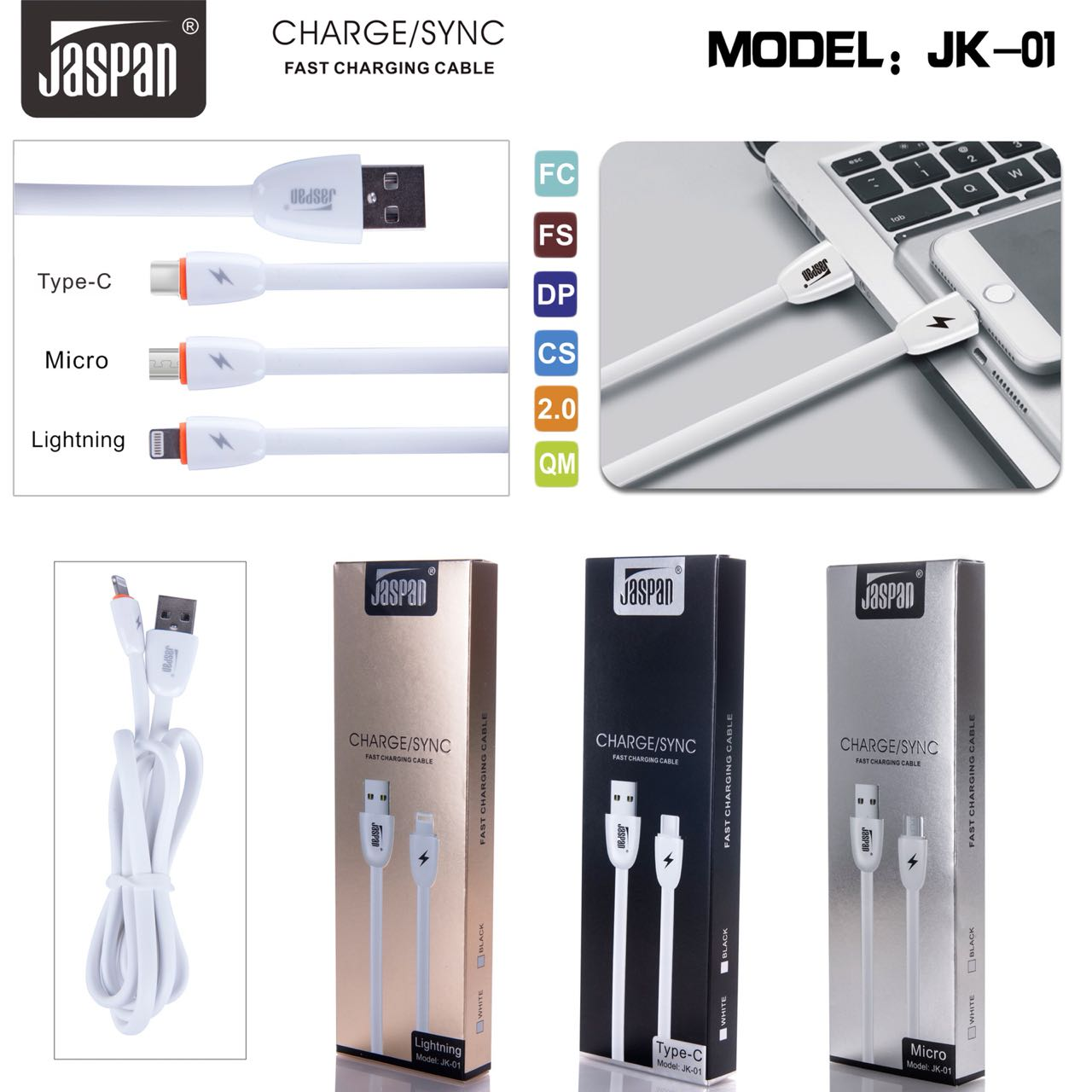 Kabel Data JΔSPΔN® FAST CHARGING (Baru)